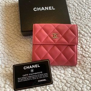 Chanel small lamb skin wallet